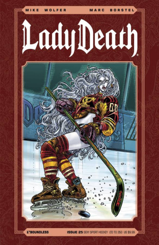 Lady Death #25 (Sexy Sport Hockey Cover)