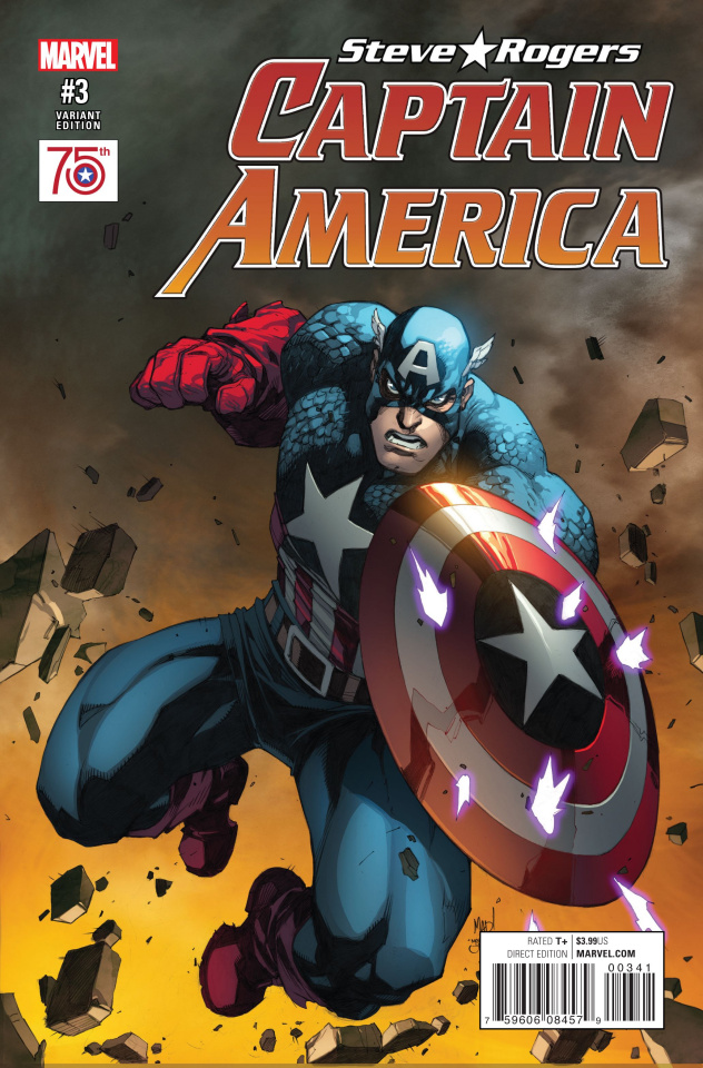 Captain America: Steve Rogers #3 (75th Anniversary Cover)