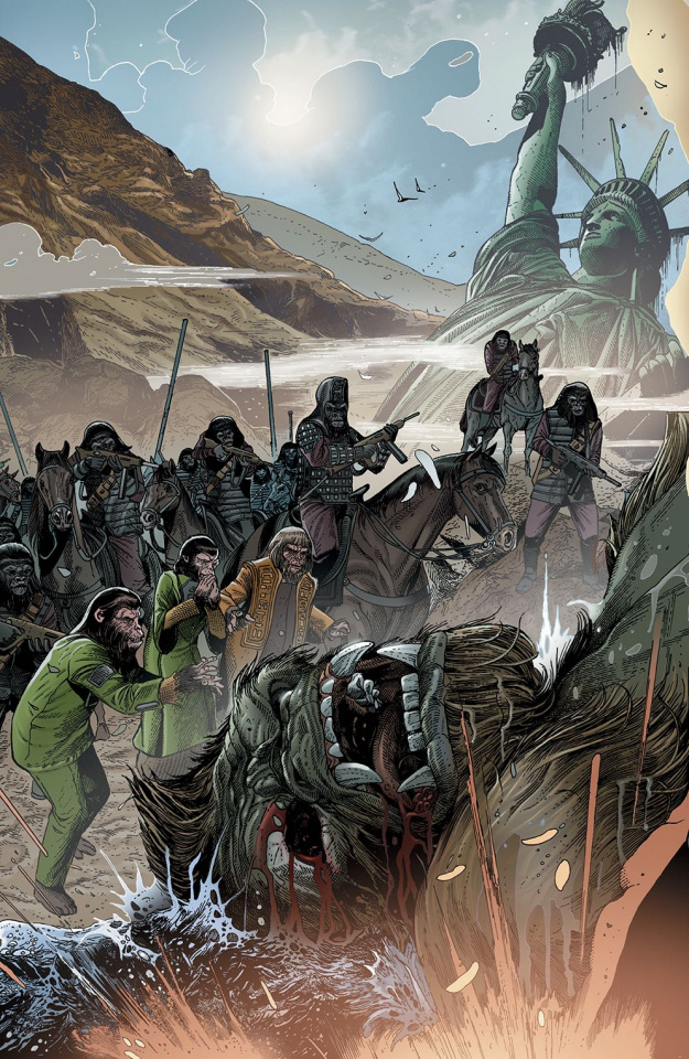 Kong on The Planet of the Apes #1 (Connecting Magno Cover)