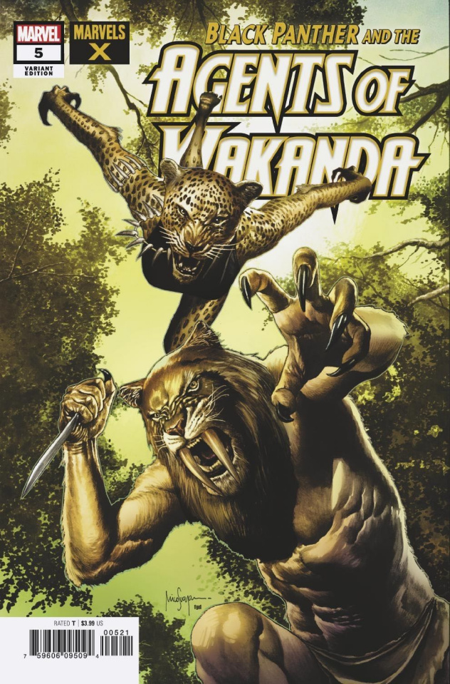 Black Panther and the Agents of Wakanda #5 (Suayan Marvels X Cover)