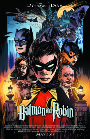 Batman and Robin #40 (Movie Poster Cover)