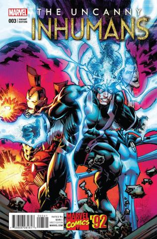 The Uncanny Inhumans #3 (Portacio Marvel '92 Cover)