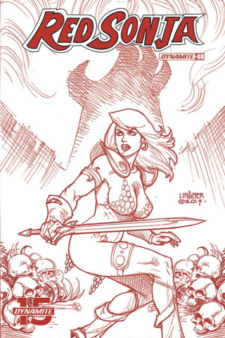 Red Sonja #8 (25 Copy Linsner Tint Dressed Cover)