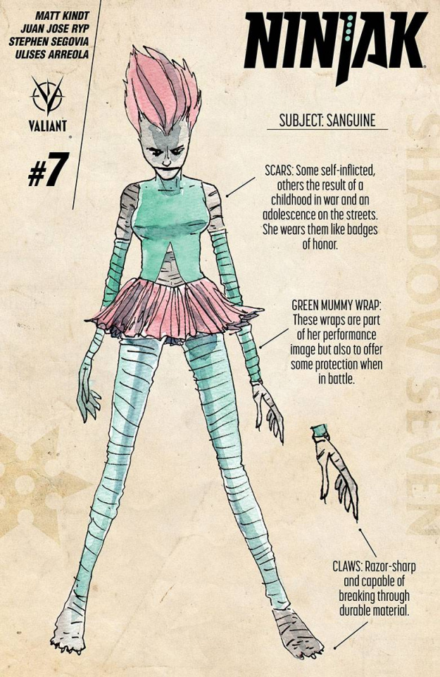 Ninjak #7 (10 Copy Character Design Kindt Cover)