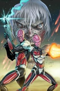 Aliens vs. Zombies #5 (Metcalf Cover)