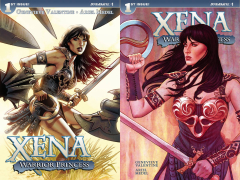 Xena: Warrior Princess #1 (Land/Frison Split Cover)