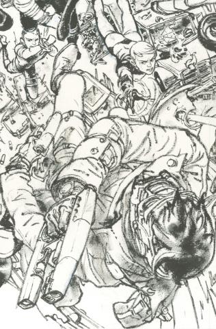 Civil War II #5 (Gi B&W Virgin Connecting Cover)