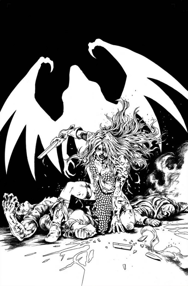 Red Sonja: The Superpowers #5 (40 Copy Lau B&W Virgin Cover)