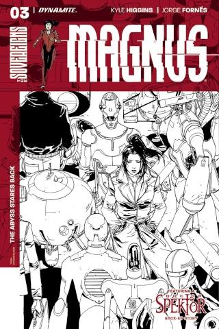 Magnus #3 (10 Copy Camuncoli B&W Cover)