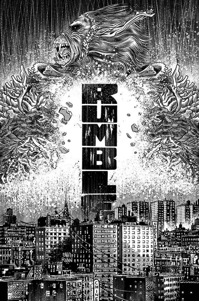 Rumble #11 (B&W Rubin Cover)