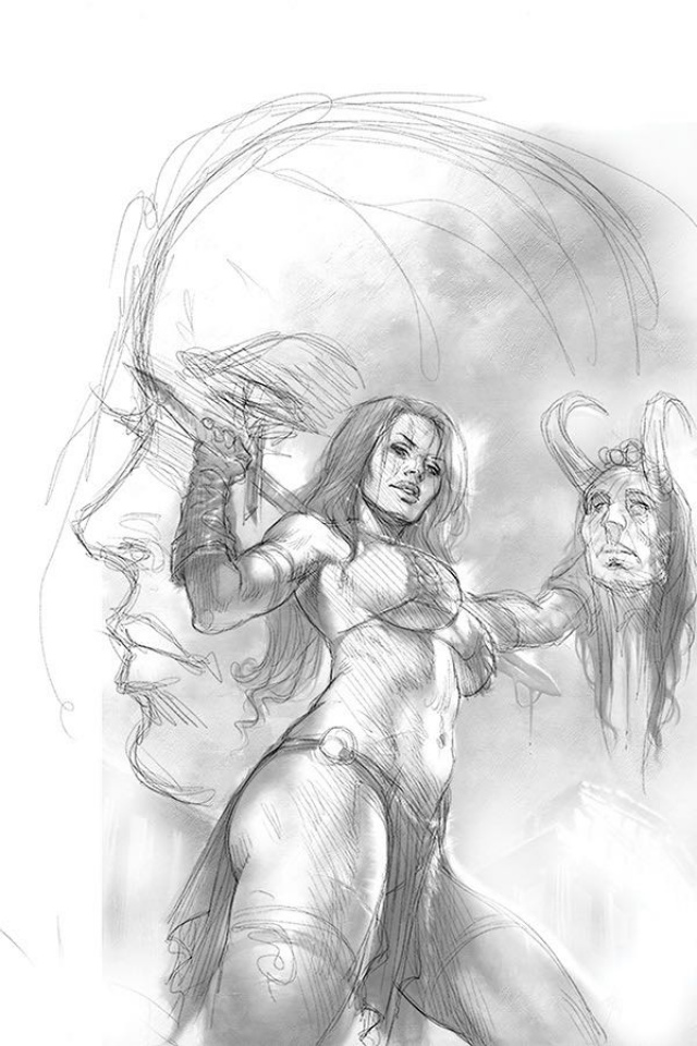 Red Sonja: Age of Chaos #3 (15 Copy Parrillo B&W Virgin Cover)