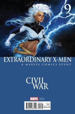 Extraordinary X-Men #9 (Oum Civil War Cover)