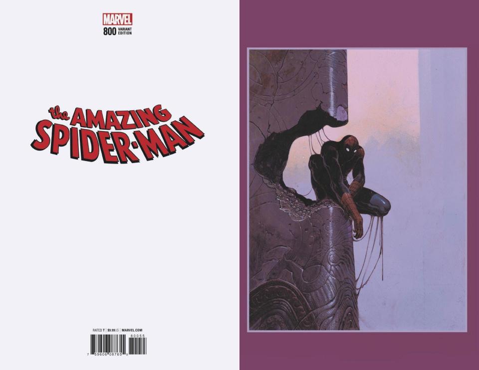 The Amazing Spider-Man #800 (Moebius Virgin Cover)