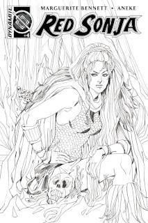 Red Sonja #4 (10 Copy Sauvage B&W Cover)