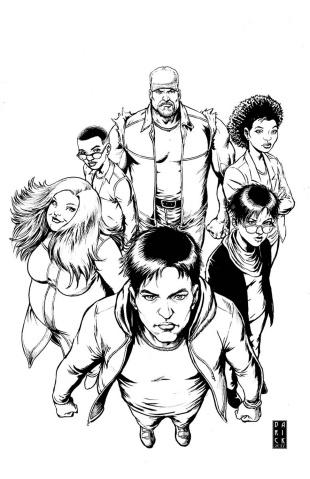 Harbinger: Renegade #8 (50 Copy B/W Sketch Cover)