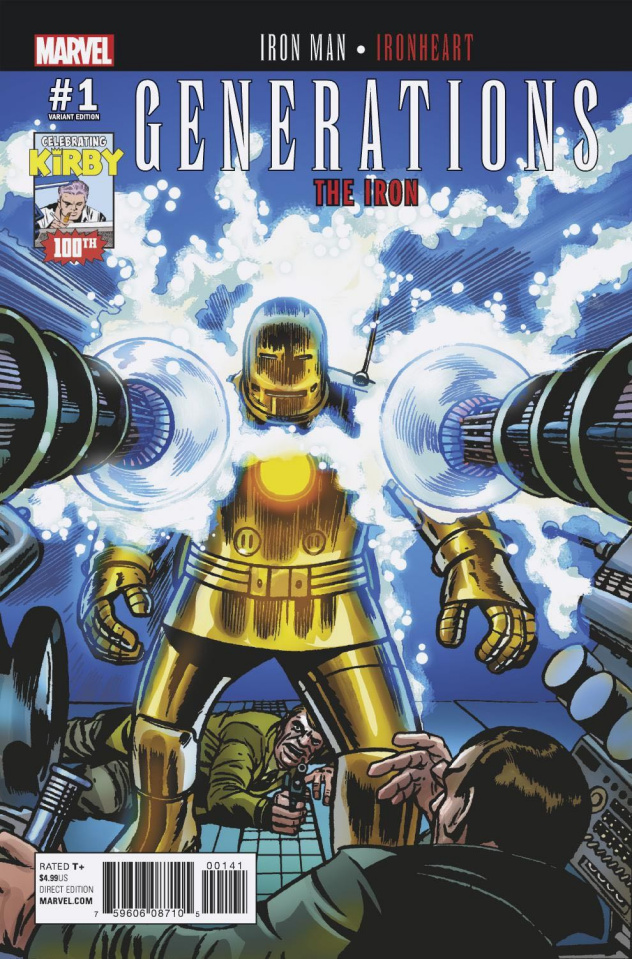 Generations: Iron Man & Ironheart #1 (Kirby 100th Anniversary Cover)