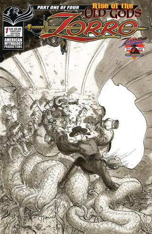 Zorro: Rise of the Old Gods #1 (B&W Kaluta Cover)