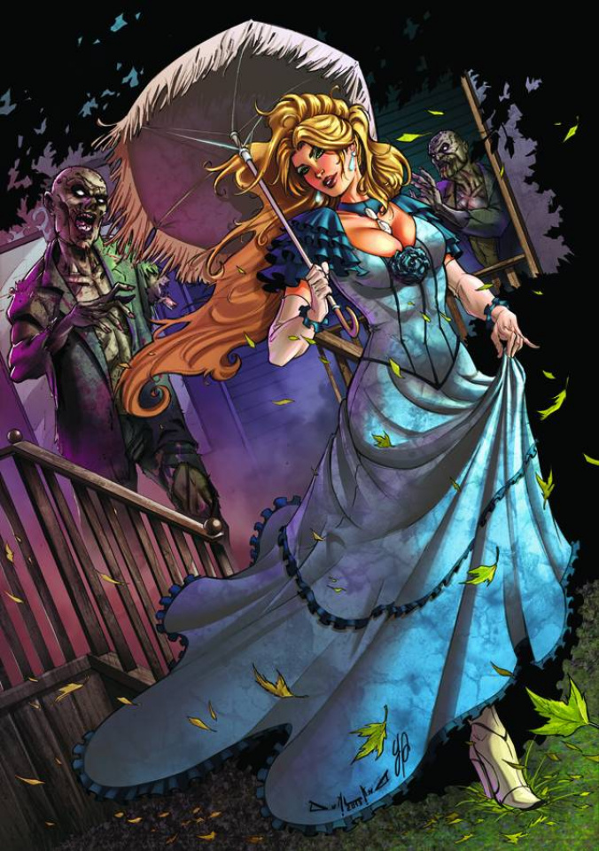 Grimm Fairy Tales: Zombies - Cursed #1 (Qualano Cover)