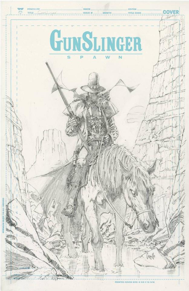 Gunslinger Spawn #1 (50 Copy Capullo Sketch Cover)