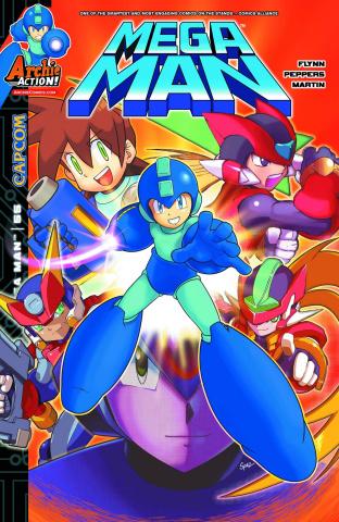 Mega Man #55 (Spaz Cover)