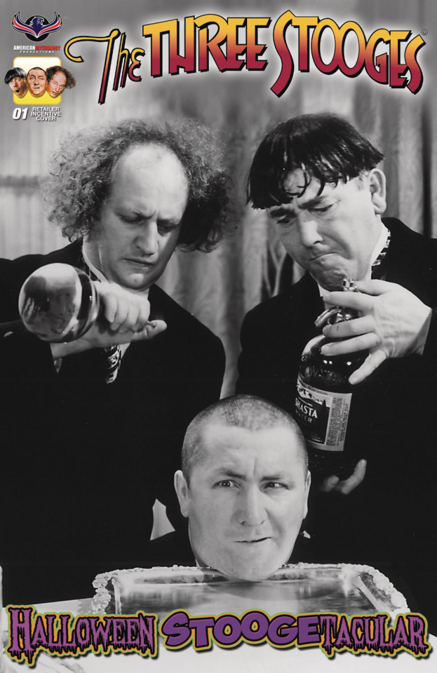 The Three Stooges: Halloween Stoogetacular (3 Copy B/W Photo Cover)