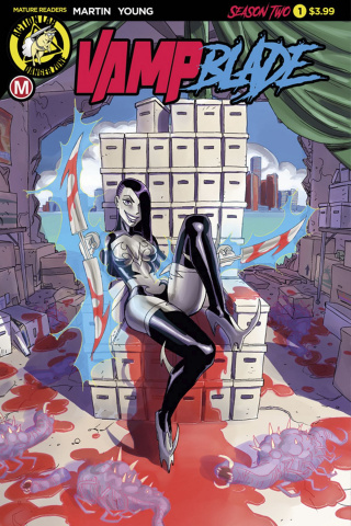 Vampblade, Season Two #1 (Winston Young Cover)