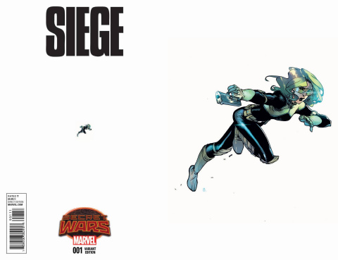 Siege #1 (Bengal Ant-Sized Cover)