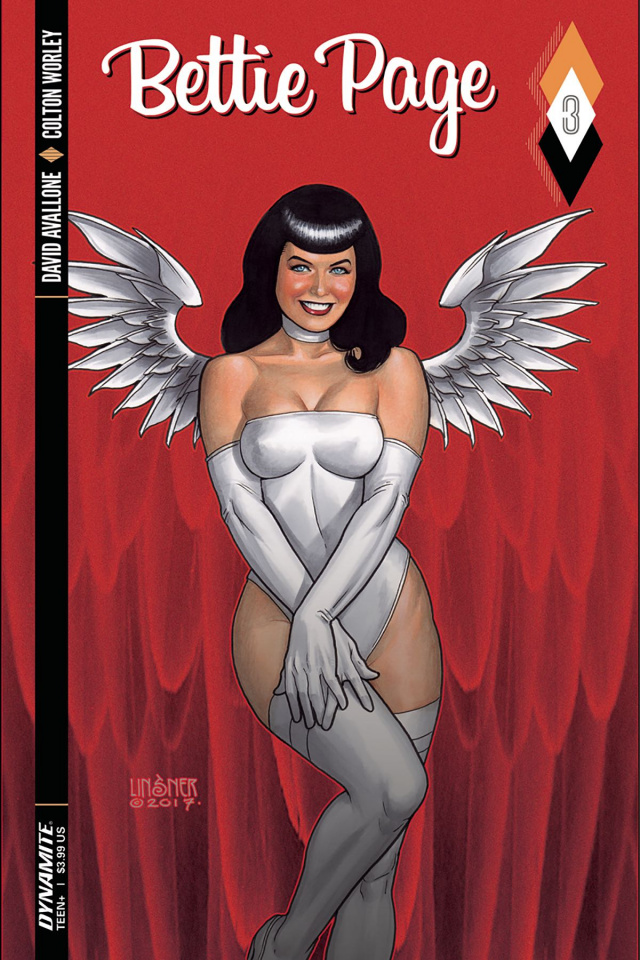 Bettie Page #3 (Linsner Cover)