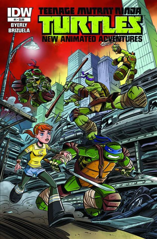 Teenage Mutant Ninja Turtles: New Animated Adventures #1 (25 Copy Cover)