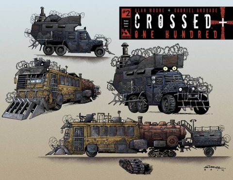 Crossed + One Hundred #2 (Design Sketch Cover)