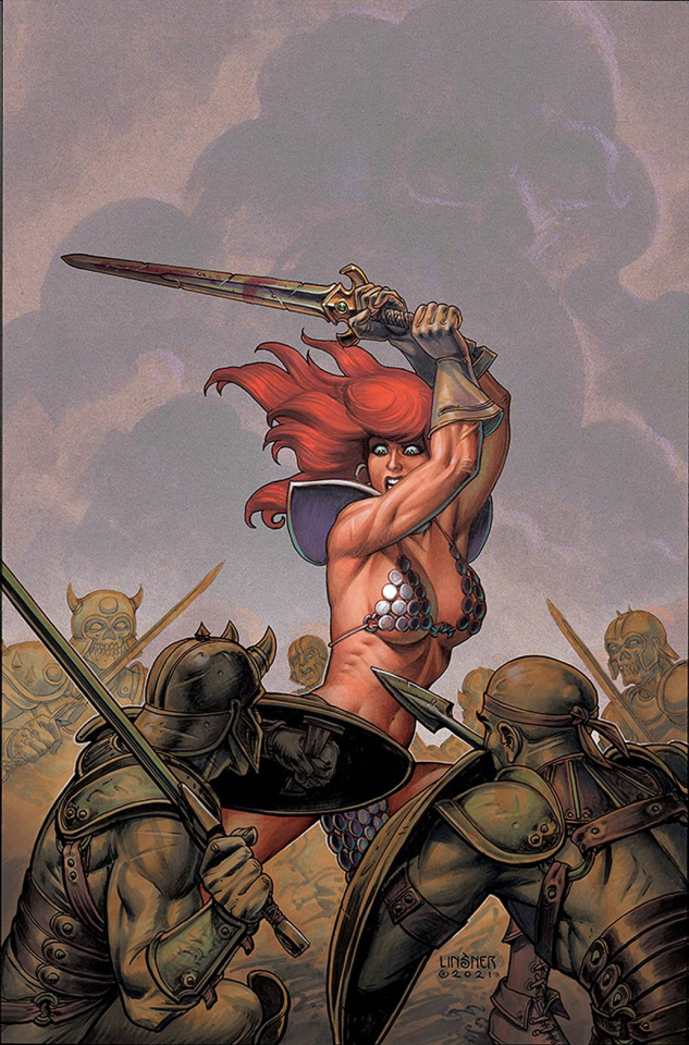 The Invincible Red Sonja #2 (Linsner Virgin Cover)