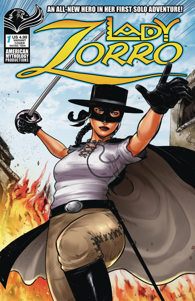 Lady Zorro #1 (Swashbuckling Watts Cover)