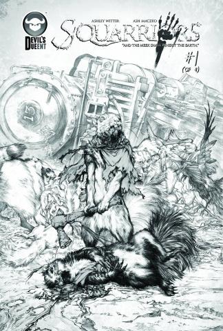 Squarriors #1 (Sketch Cover)