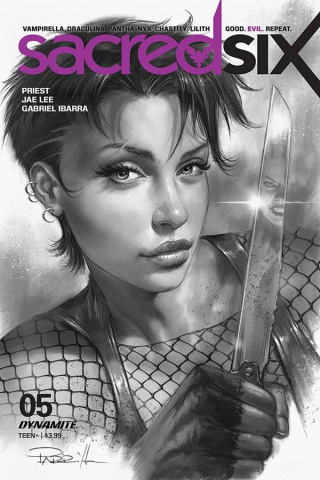 Sacred Six #5 (25 Copy Parrillo B&W Cover)