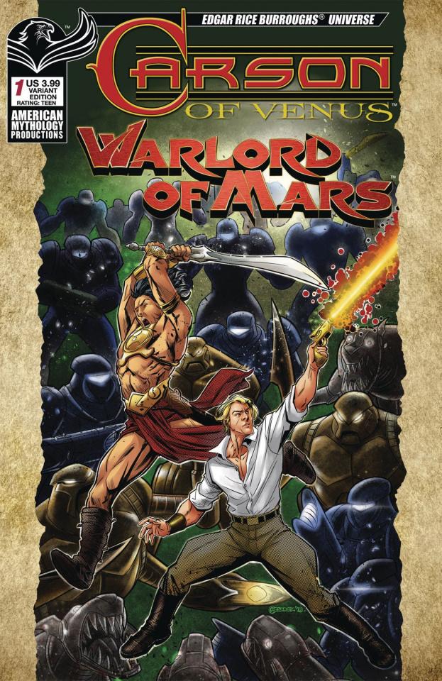 Carson of Venus / Warlord of Mars #1 (Warriors Mesarcia Cover)
