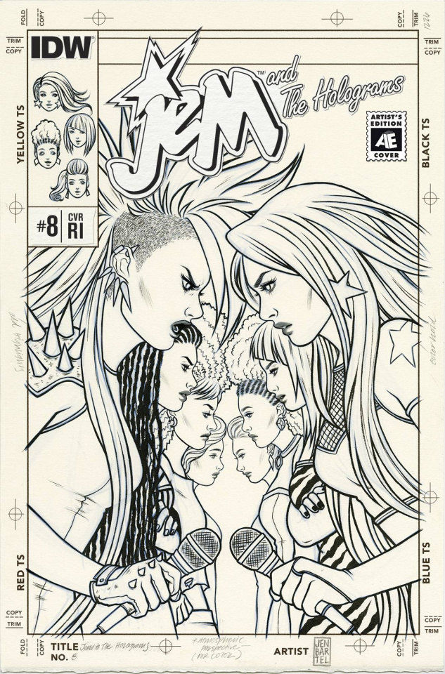 Jem and The Holograms #8 (10 Copy Cover)