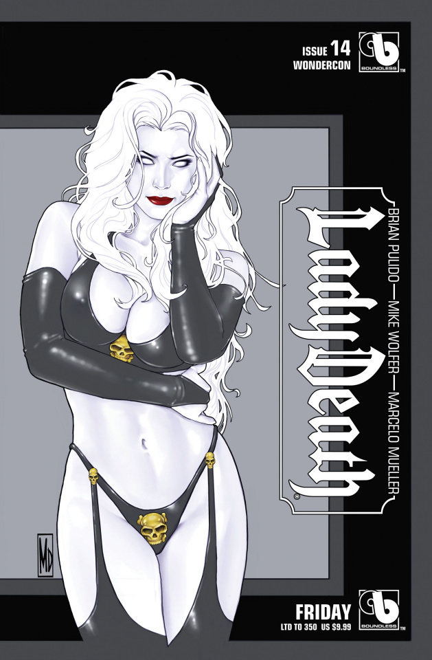 Lady Death #14 (Wondercon Friday Cover)