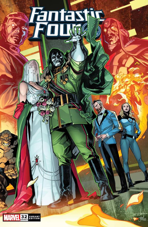 Fantastic Four #32 (Schiti Wraparound Cover)