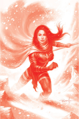 Dejah Thoris #9 (21 Copy Parrillo Tint Virgin Red Cover)