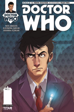 Doctor Who: New Adventures with the Tenth Doctor, Year Two #14 (Florean Cover)
