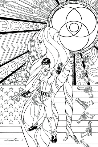 Grayson #16 (Adult Coloring Book Cover)