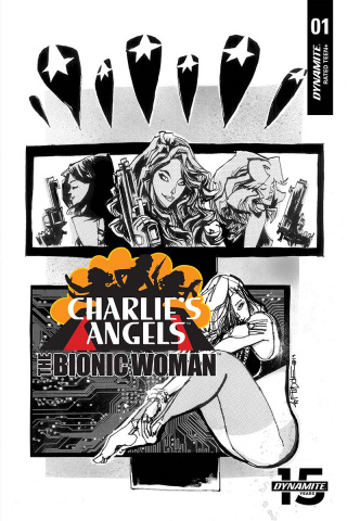 Charlie's Angels vs. The Bionic Woman #1 (10 Copy Mahfood B&W Cover)