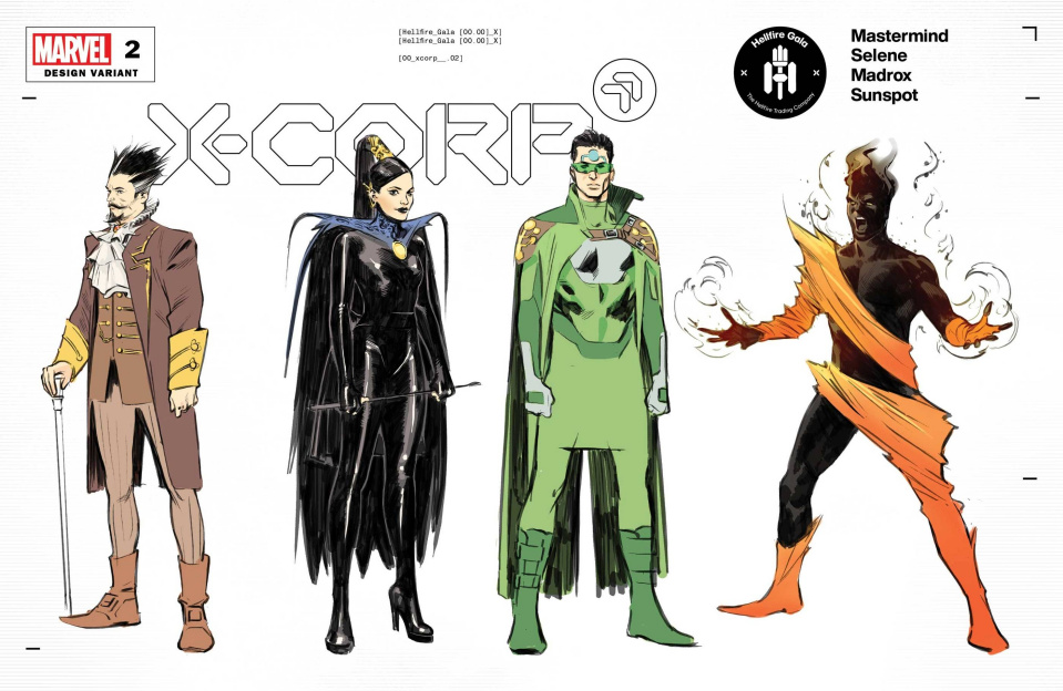 X-Corp #2 (Foche Character Design Cover)