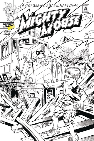 Mighty Mouse #5 (10 Copy Lima B&W Cover)