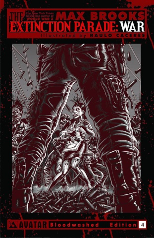The Extinction Parade: War #4 (Bloodwashed Cover)