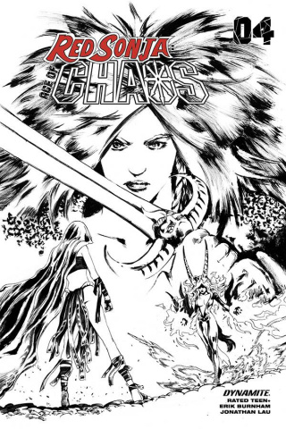 Red Sonja: Age of Chaos #4 (35 Copy Lau B&W Cover)