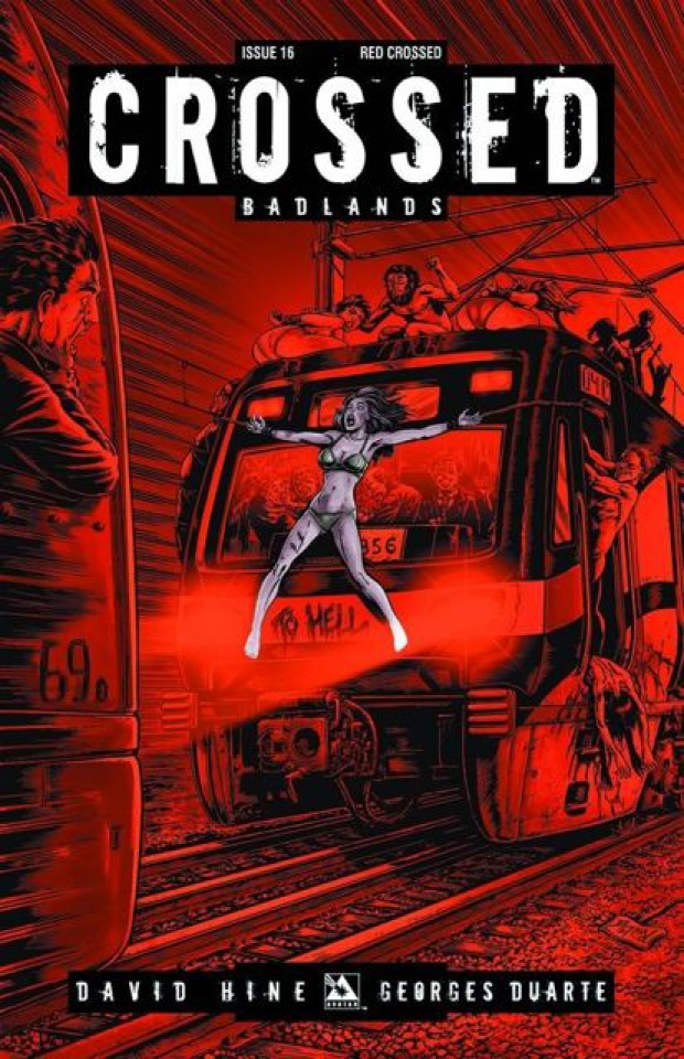 Crossed: Badlands #16 (Red Crossed Cover)