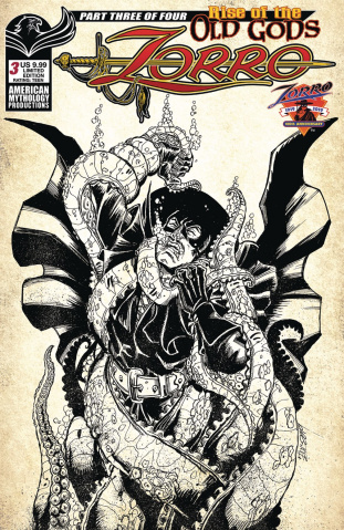 Zorro: Rise of the Old Gods #3 (Limited Pulp Cover)