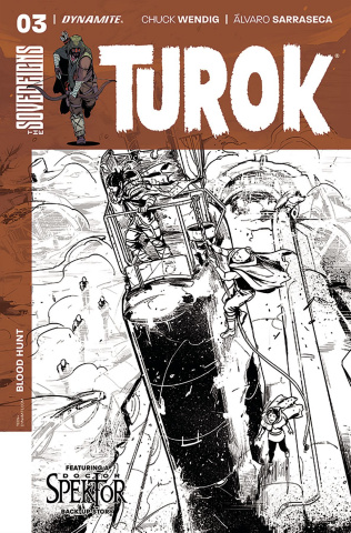 Turok #3 (10 Copy Sarraseca B&W Cover)