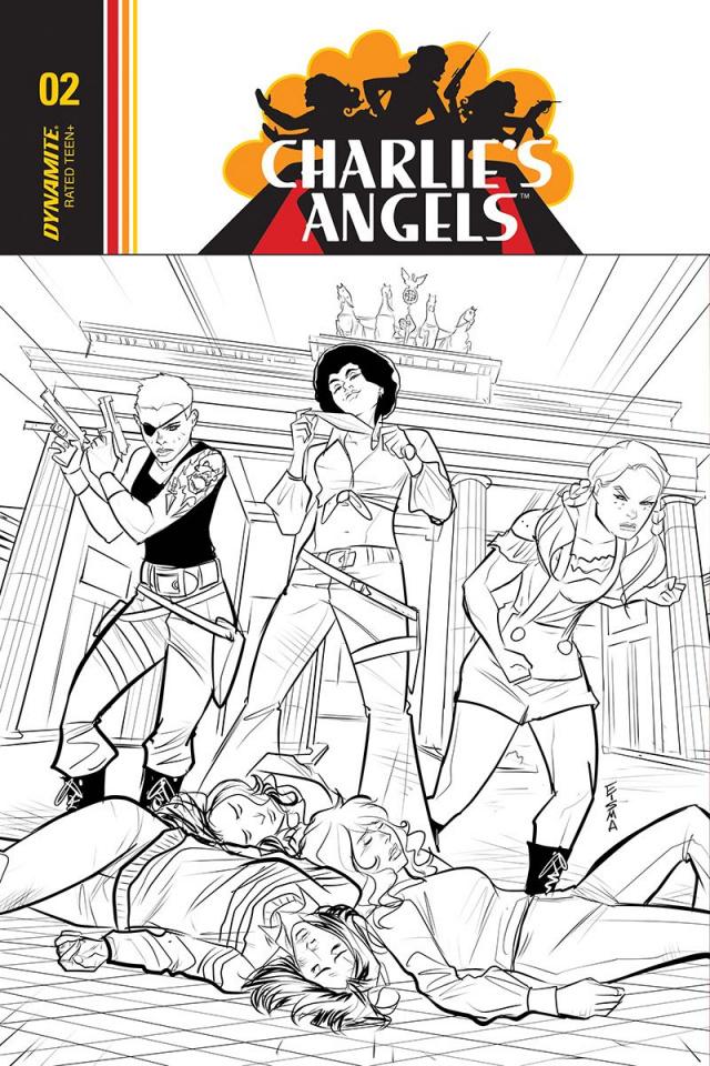 Charlie's Angels #4 (10 Copy Eisma B&W Cover)